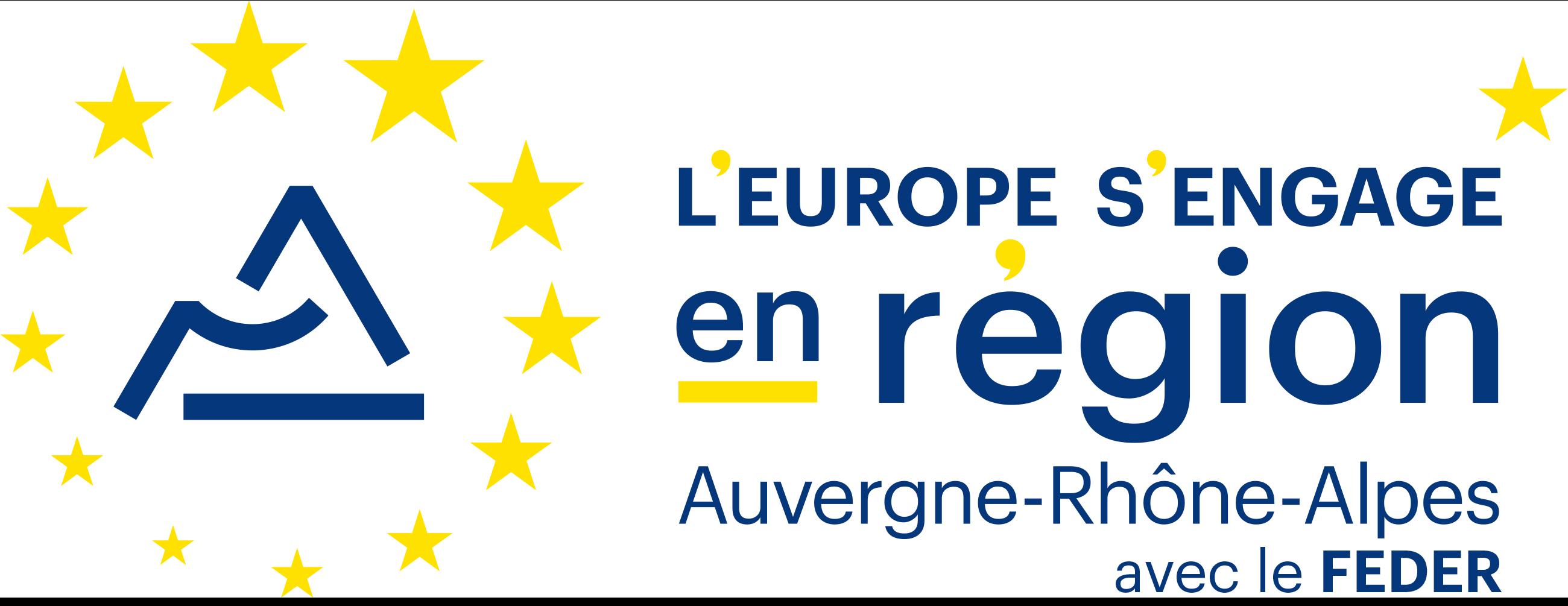 Logo L'Europe s'engage en région Auvergne-Rhône-Alpes avec le FEDER